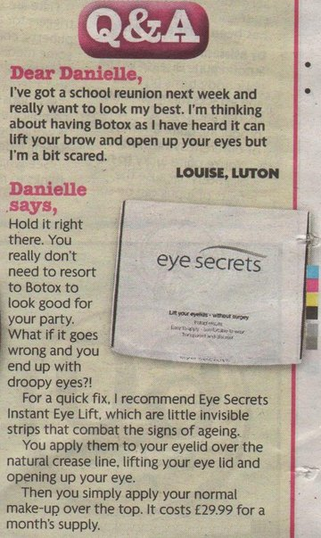 about eye secrets