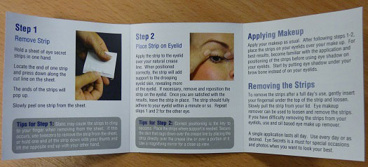 instructions how to apply eye secrets