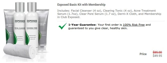 exposed skin care basic kit